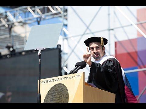 Penn's 2016 Commencement Ceremony- Commencement Speaker Lin-Manuel Miranda