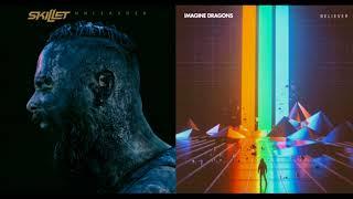 Download Lagu 【Mashup】- Feel Invincible x Believer - Skillet x Imagine Dragons Gratis STAFABAND