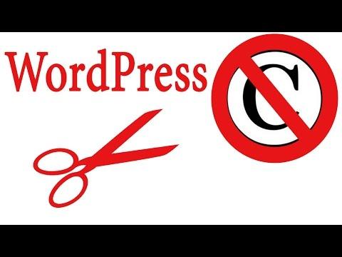 Как удалить копирайт из темы оформления WordPress?