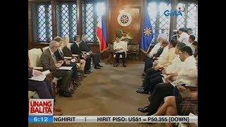 UB: Pres. Duterte at U.S. Sec. of State Tillerson, nagpulong sa palasyo