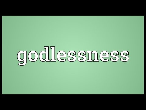 Header of godlessness