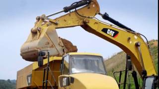 Cat 374D & 374F Hydraulic Excavators Produce