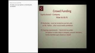 crowdfunding  conference  Award, donation investment  CrowdFundingmentors, Jobs act