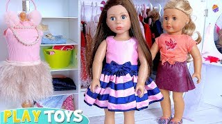 American Girl Dolls Dress up Adventure in the Doll Bedroom! 🎀