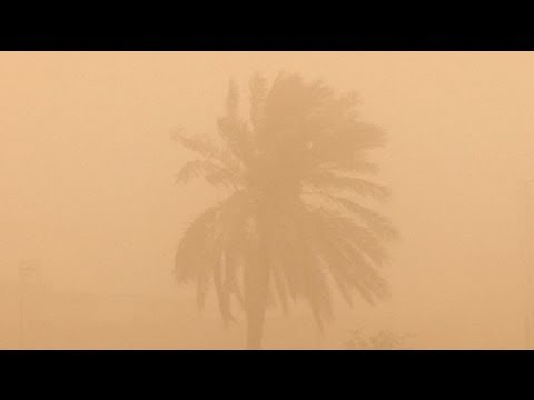 Dust storm hits Baghdad - no comment