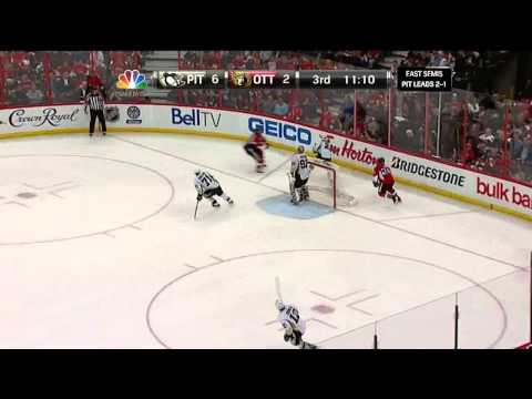 Sidney Crosby sick backhand goal 6-2 May 22 2013 Pittsburgh Penguins vs Ottawa Senators NHL Hockey