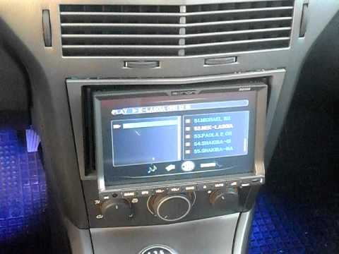 Doppio din eonon opel astra youtube for Astra h tablet install