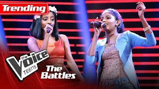 The Battles : Nuthara Nethdini V Dahami Anuththara | Dumburu Lamissi | The Voice Teen Sri Lanka