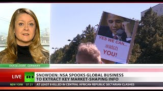 NSA's big nose in big business: Snowden says agency spies on industry  1/27/14