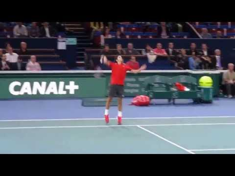 BNP Paribas Masters 2014 - Roger Federer match point against Chardy