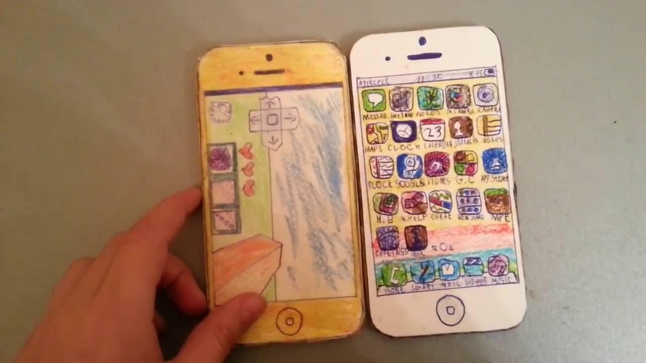 Как сделать айфон 7 из бумаги без  607