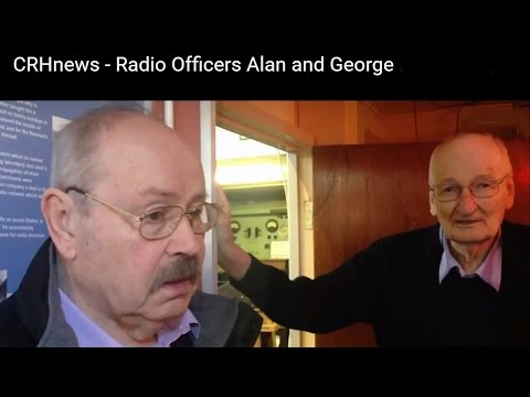 CRHnews - Marine Radio Officers Alan and George reminisce during Marconi International Day