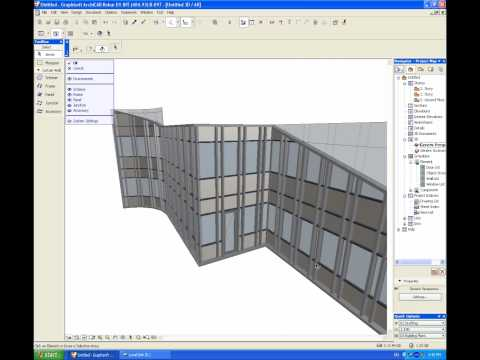 Archicad 12 Curtain Wall Tool Youtube