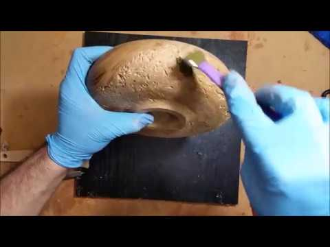 Wood turning - Complete step by step guide on brass powder inlay bowl