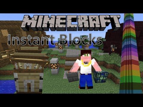Minecraft Mody Instant Blocks Magiczne bloki potrafią cuda