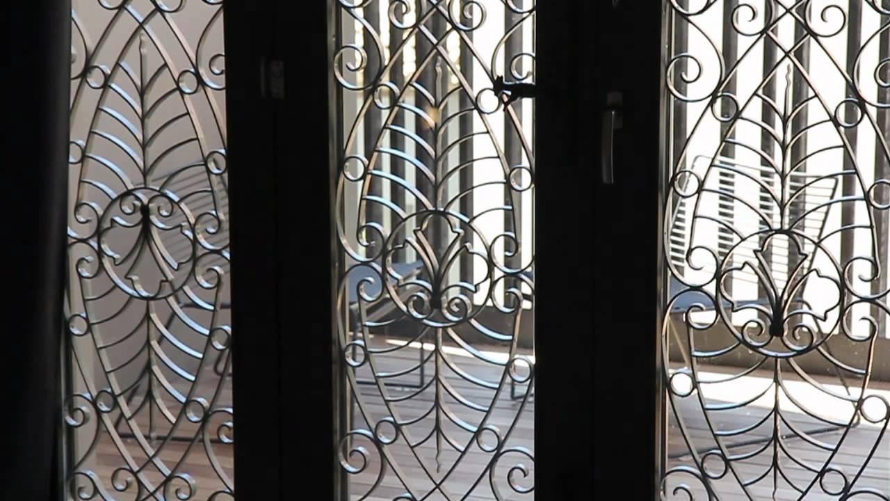 Punto caliente 28 puerta de hierro forjado en habitaci n for Puertas de tambor modernas