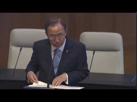 Ban Ki-moon on Syria: Give Peace a Chance, Give Diplomacy a Chance, Stop Fighting and Start Talking