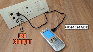How to Make a USB Mobile Phone Charger On Electric Board - Homemade