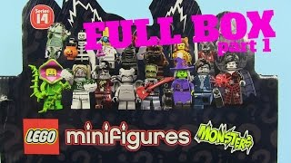 Lego Monsters Minifigures Series 14 Full Box Unboxing Part 1 | PSToyReviews