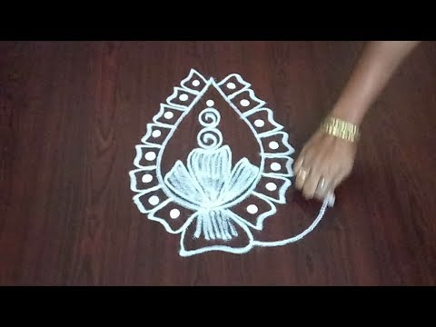 Easy & Best Lotus Design  || Awesome Lotus Flower Kolam || Rangoli & Fashion World