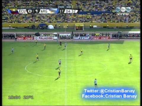 Ecuador 1 Argentina 1 (Audio Espn Deportes Radio)  Eliminatorias Rumbo a Brasil 2014 Los goles