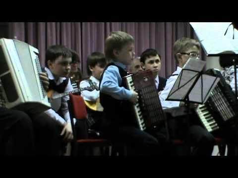 Отчётный концерт оркестра музыкальной школы.Морозов Иван
