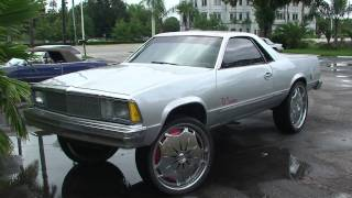 1980 CHEVY El CAMINO V8 DONK LIFTED UP HIGH. IN SONY HD