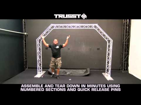Truss system - Portable Arch Trussing Kit Perfect for Mobile DJs and Bands by TRUSST