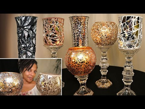 Mosaic Mirror Vases | 4 Dollar Tree DIYs