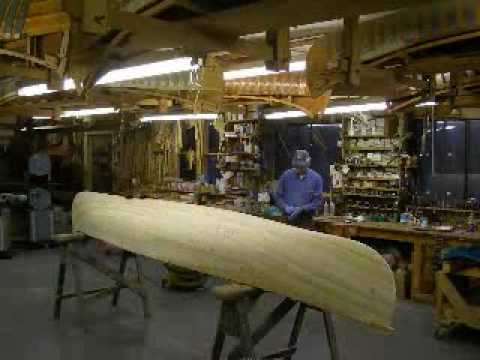 Building a Canoe at Northwoods Canoe Co.