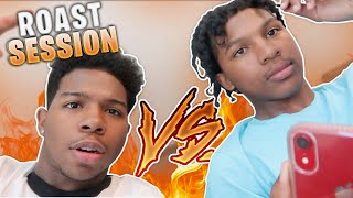 INTENSE ROASTING BATTLE AGAINST MY LIL BROTHER! *it got personal*