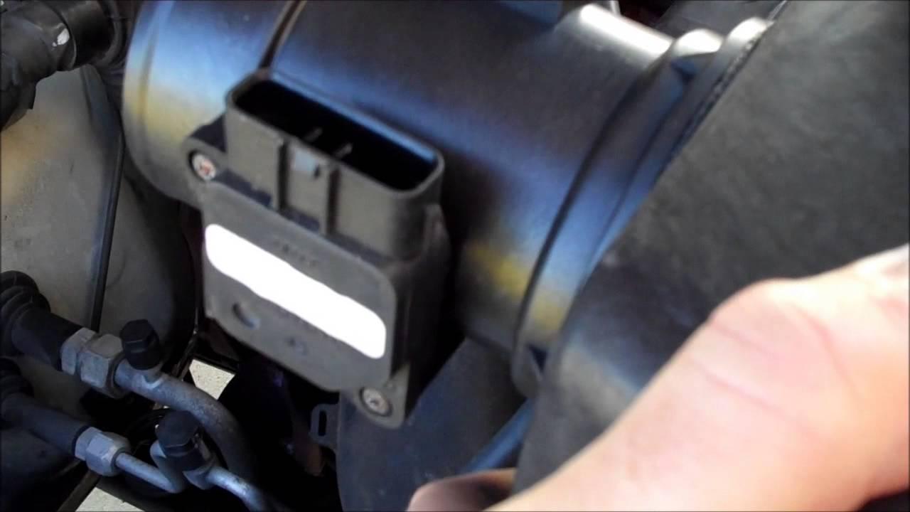 replace air box  maf sensor    tacoma