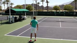 Alexander Zverev Practice 2016 BNP Paribas Open Indian Wells