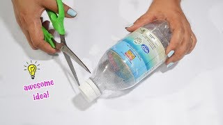 Easy way to reuse plastic bottle craft idea! how to recycle plastic bottle