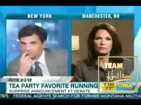 "TEAM HILLARY CLINTON CALLS OUT ANTI GAY MICHELE BACHMANN - "" YOU ARE NO HILLARY CLINTON """