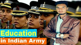 """Women's """"Education Qualification"""" to join indian army in hindi type of entry how to become a officer"""