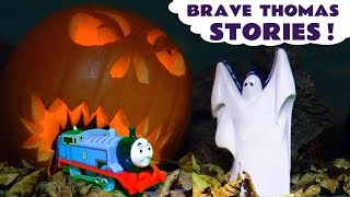 Thomas & Friends Brave Thomas Stories with a spooky Party Prank Batman and Tom Moss TT4U