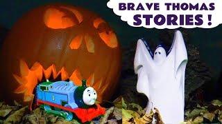 Thomas \u0026 Friends Brave Thomas Stories with a spooky Party Prank Batman and Tom Moss TT4U