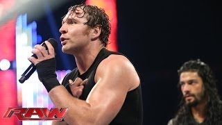 Dean Ambrose & Roman Reigns address Seth Rollins