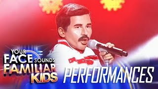 Your Face Sounds Familiar Kids Finale: Sam Shoaf as Freddie Mercury - We Will Rock You