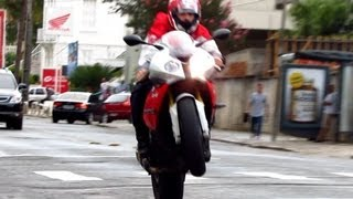BMW S1000RR with MIVV Full Exhaust - Start-up, Revs, Wheelies and Loud Sounds! - Bikers 52