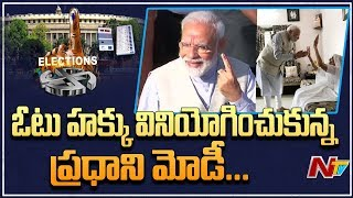 PM Narendra modi Casts His Vote In Ahmedabad | Lok Sabha Polls 2019 | NTV