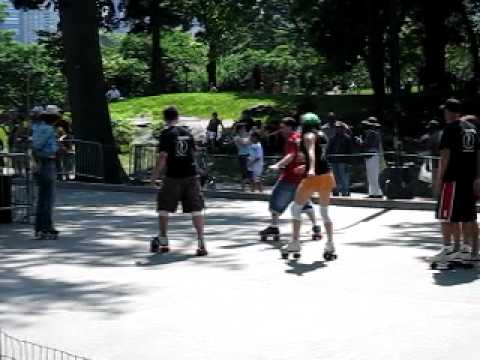 New York City Central Park Dance Skaters