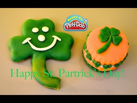St Patrick's Day Play Doh Sweet Shoppe 4 Leaf Clover Play-Doh Cake  By TheChildhoodlife