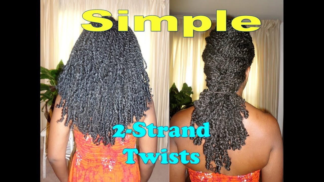 Simple Two Strand Twists W Natural Looking Extensions For