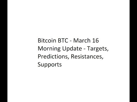 Bitcoin BTC - March 16 Morning Update - Targets, Predictions, Resistances, Supports