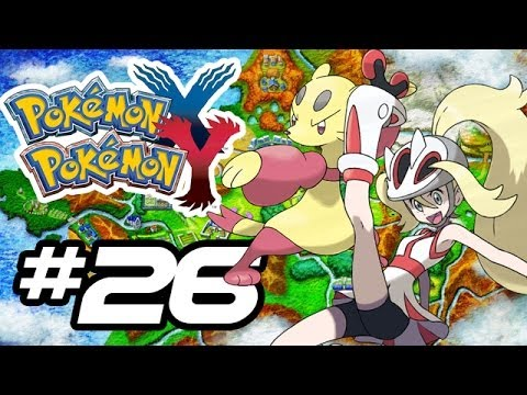 Pokemon X and Y Gameplay Walkthrough - Part 26 - GYM LEADER KORRINA!! (Pokemon Gameplay 3DS HD)