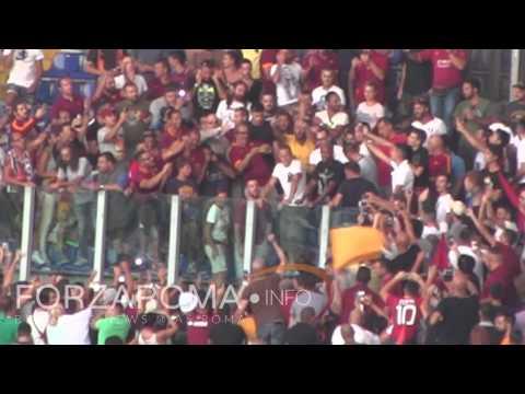 Rodrigo Taddei in Curva Sud per Roma-Fiorentina [HD]