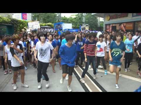 Bangkok flashmob @MBK Part.5 Global Flashmob Day