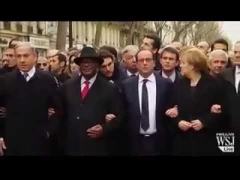 France World leaders including Muslims&Jews 4 million march against terrorism 1/11/2015